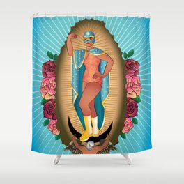 Lucha Guadalupe Shower Curtain