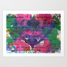 Life Lessons in Handwritten Abstract Art Print