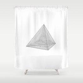 DMT TETRAHEDRON Shower Curtain