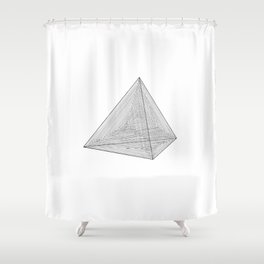 DMT TETRAHEDRON Shower Curtain