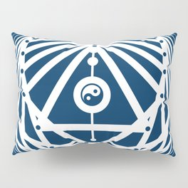 Radiant Abundance (blue-white) Pillow Sham