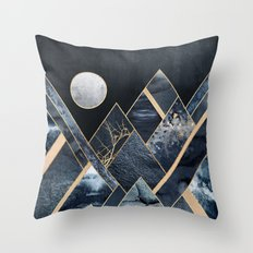 Stormy Mountains Throw Pillow