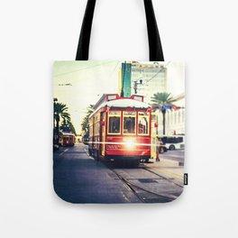 New Orleans Streetcar Tote Bag