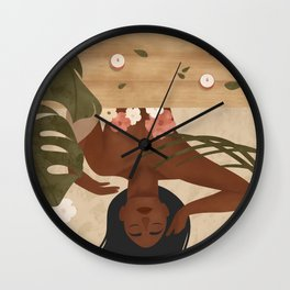 Fall in Love with taking care of Yourself Wall Clock