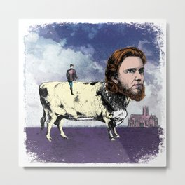 JASPER BOVINE (OUR MUTUAL FRIEND) ILLUSTRATION Metal Print