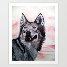 Wolf in Red Art Print