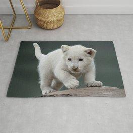 White lion cub Rug
