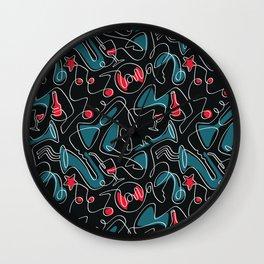 Jazz Music Pattern Wall Clock