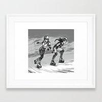 roller derby Framed Art Prints featuring Roller Derby by mcguinnessjohn