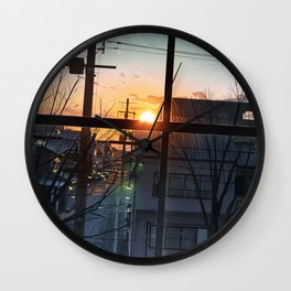 Sunset Original Artwork Wall Clock