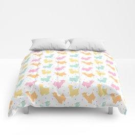 Pastel Kawaii Llamas Comforters