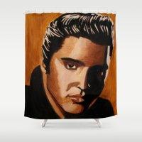 elvis Shower Curtains featuring Elvis by Kandus Johnson