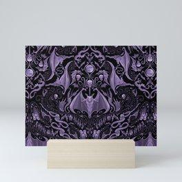 Bats and Beasts - ROYAL PURPLE Mini Art Print