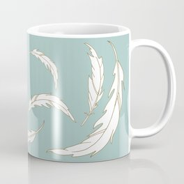Come fly with me blue illustration Coffee Mug