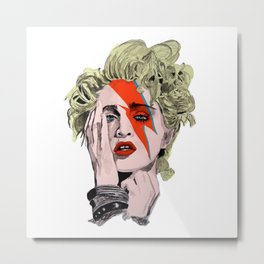 The Queen of pop as Bowie  Metal Print
