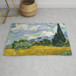"""Vincent van Goghm """"Wheat Field with Cypresses""""  Rug"""