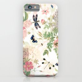 Vintage & Shabby Chic - Botanical Flower Roses Garden iPhone Case