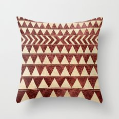 Vintage Material Triangles Throw Pillow