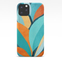 Abstract Tropical Foliage iPhone Case