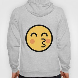 Smiley Face   Kissing Face With Red Cheeks Hoody