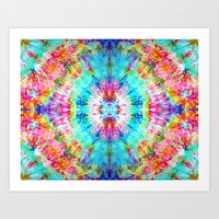 Rainbow Sunburst Art Print