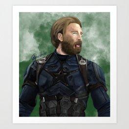 Infinity War Cap Art Print
