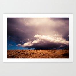 Angry Skys Art Print