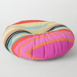 Sunset Stripes Floor Pillow