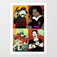 Pop mix of the some of the greats pop culture memories.  Art Print