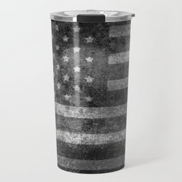 US flag, Old Glory in black & white Travel Mug