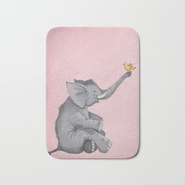 A Little Birdie Told Me - Elephant and Bird Bath Mat
