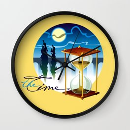 Sand-glass with southern landscape Wall Clock