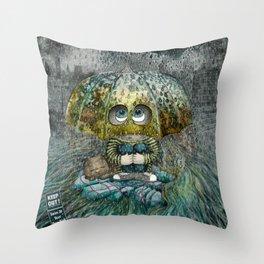 Rain All Day Throw Pillow