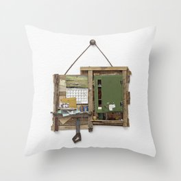 Fragmented Cabin Study in 1:10 Scale Throw Pillow