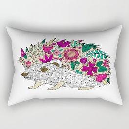 Woodland Hedgehog Illustration Rectangular Pillow