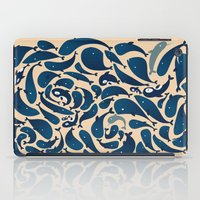 whales iPad Cases featuring Whales by Amanda Lima