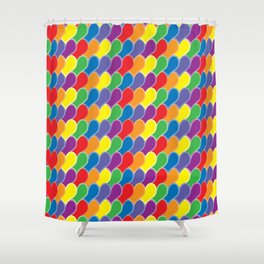 Pride Heart Scale Pattern Shower Curtain