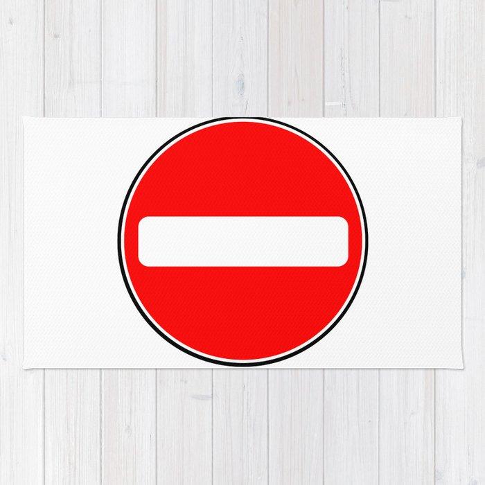 No Entry Sign Rug