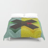 cross Duvet Covers featuring CROSS by Metron