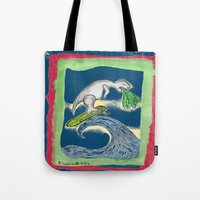 charlie Tote Bags featuring Charlie by Huiskat