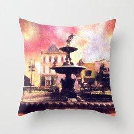 Fountain Square Park Throw Pillow