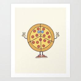 Pizza & Love Art Print