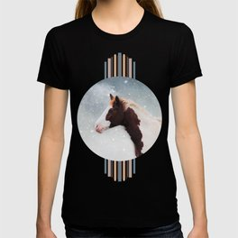 Paint Horse in the Snow T-shirt