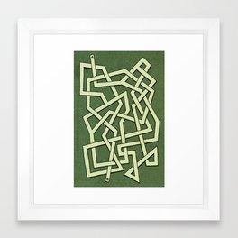 Maze 80 Framed Art Print