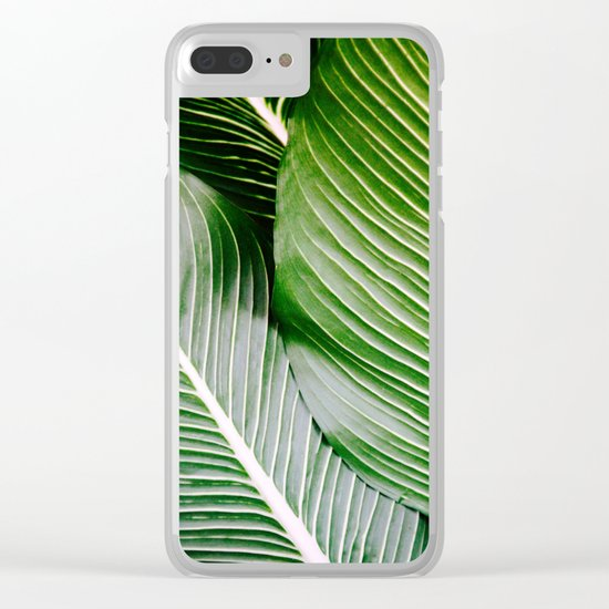 Big Leaves - Tropical Nature Photography Clear iPhone Case
