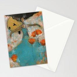 Floating. African American Art, Black Art, Women, Girls, Female Stationery Cards