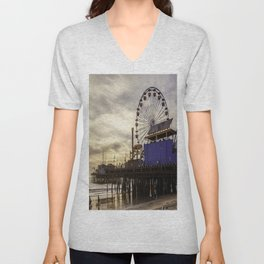 Santa Monica Pier Fun Unisex V-Neck