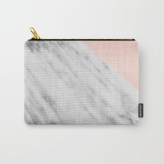 Real Carrara Italian Marble and Pink Carry-All Pouch