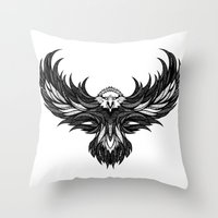 eagle Throw Pillows featuring Eagle by Andreas Preis