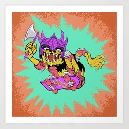 Skate Creep  Art Print